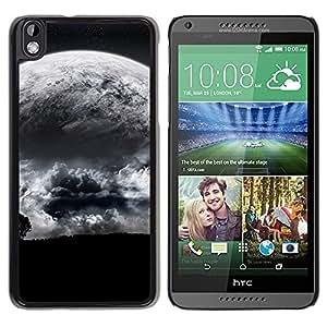 Be Good Phone Accessory // Dura Cáscara cubierta Protectora Caso Carcasa Funda de Protección para HTC DESIRE 816 // Alien Moon Close View Tree Eart Apocalypse Planet