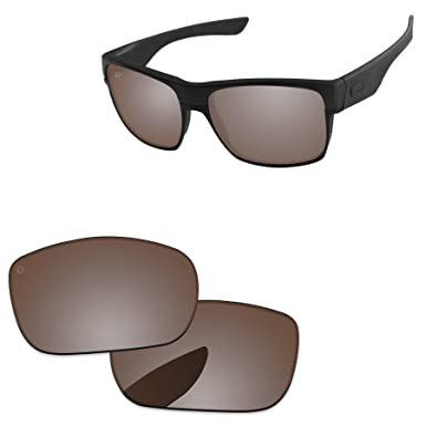 140d032bcd PapaViva Replacement Lenses for Oakley TwoFace Pro+ Vivid Bronze Polarized   Amazon.co.uk  Clothing