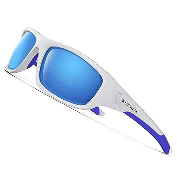Torege Gafas de sol deportivas polarizadas para hombres y mujeres Ciclismo Correr Pescar Golf TR90