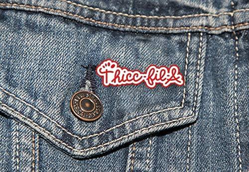 Cool Pins Meme Pins Cute Pins THICC-FIL-A Enamel Pin Button Pins Enamel Pins for Backpacks Hat pins