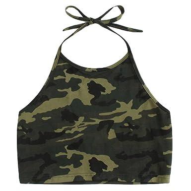 8355d0f0c045 chengzhijianzhu_Women Shirts Girls Tank Crop Cami Tops Womens Sexy Vest  Camisole Camouflage Printing Sleeveless T-Shirt Top at Amazon Women's  Clothing store ...