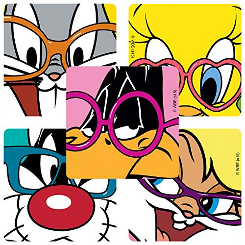 SmileMakers Looney Tunes Glasses Stickers - Prizes 100 per Pack