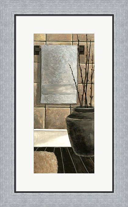 Amazon.com: Modern Bath Panel II by Megan Meagher Framed Art Print ...