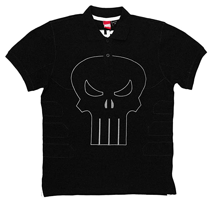 ea652ad9a5c27 Image Unavailable. Image not available for. Color  Mad Engine Punisher  Frank s Polo Men s Polo Shirt ...