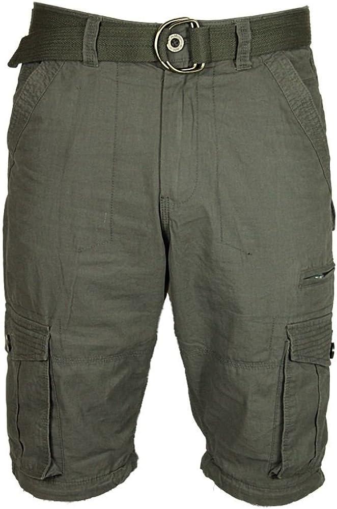 KAM Mens Trousers Shorts 2 In 1 Casual Cargo Combat Pants Walking Big King Sizes