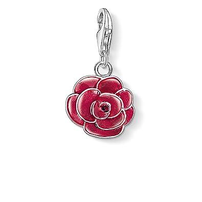 Thomas Sabo Women Charm Pendant Rose Charm Club 925 Sterling Silver