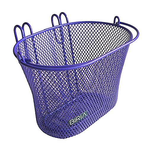Biria Basket with hooks PURPLE, Front, Removable, Children wire mesh SMALL kids Bicycle basket, NEW, - Basket Bicycle Girl