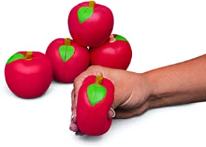 Apple Shaped Squish Stress Toys (set of 12 pieces) Party Favor and Classroom Giveaways
