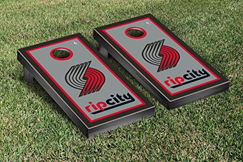 Portland Blazers Trailblazers NBA Basketball Regulation Cornhole Game Set Border Version by Victory Tailgate