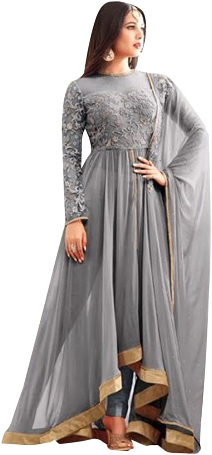 Maßanfertigung Designer Anarkali Salwar Anzug Jacke Partei tragen