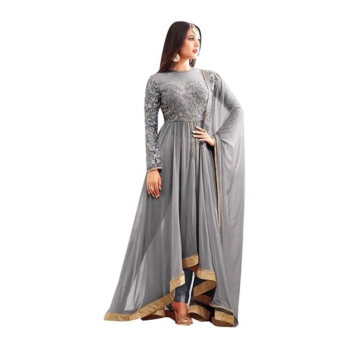 Medida a medida Diseñador anarkali salwar traje chaqueta ...