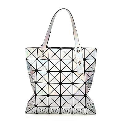 724072f20dff Image Unavailable. Image not available for. Color  Purtou Diamond Lattice  Handbag for Women ...