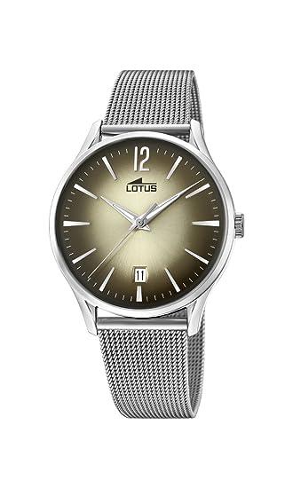 Lotus Watches Reloj Análogo clásico para Hombre de Cuarzo con Correa en Acero Inoxidable 18405/2: Amazon.es: Relojes