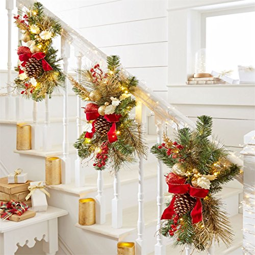 Decorate The Stairs For Christmas: Red And White Christmas Decorations, Ornaments, Crackers