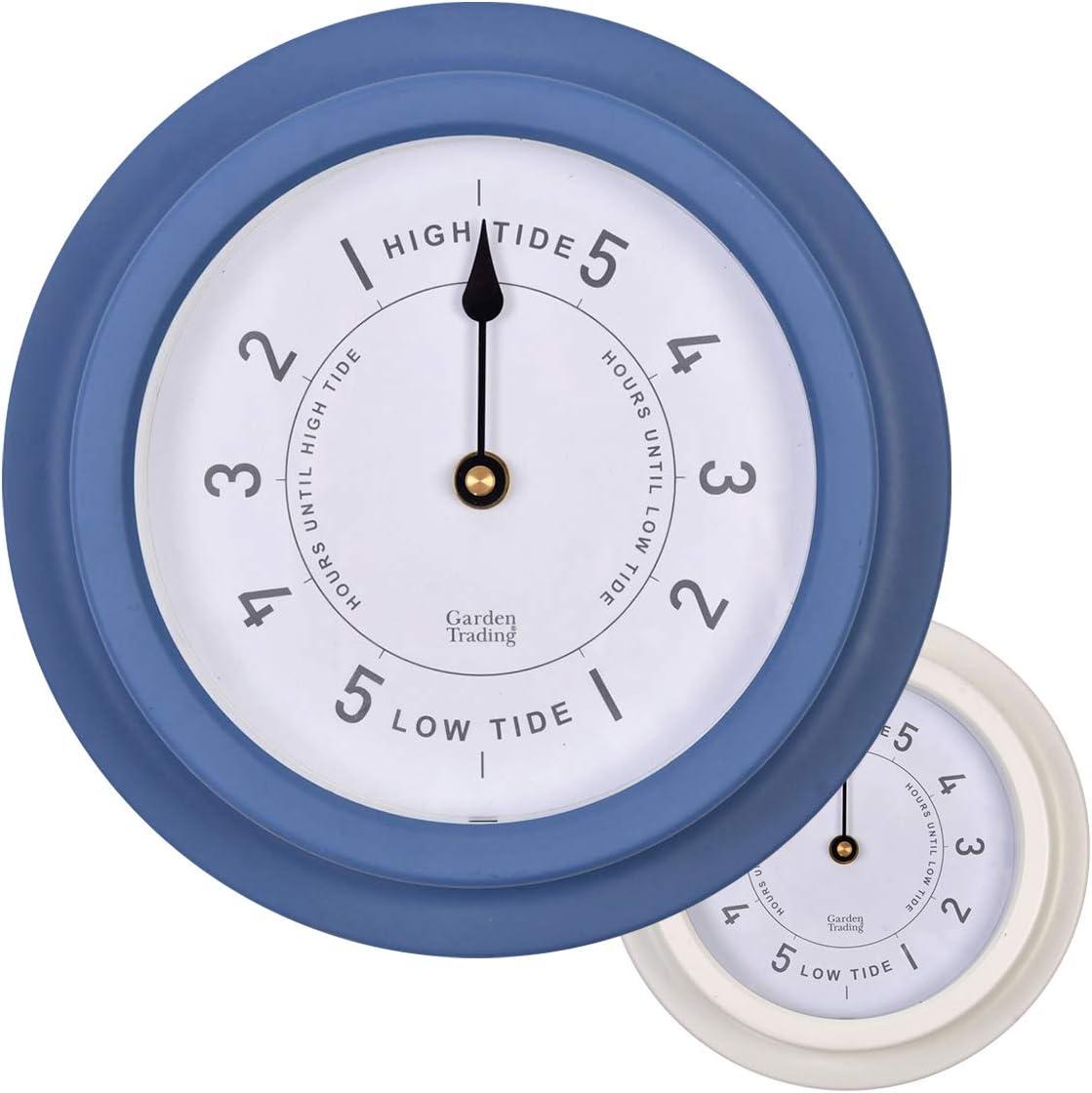CKB LTD - Reloj de Marea náutico Tradicional Resistente a la Intemperie, Interior y Exterior, Funciona con Pilas, decoración Ideal para el mar o la Caravana, Acero de 22,7 cm