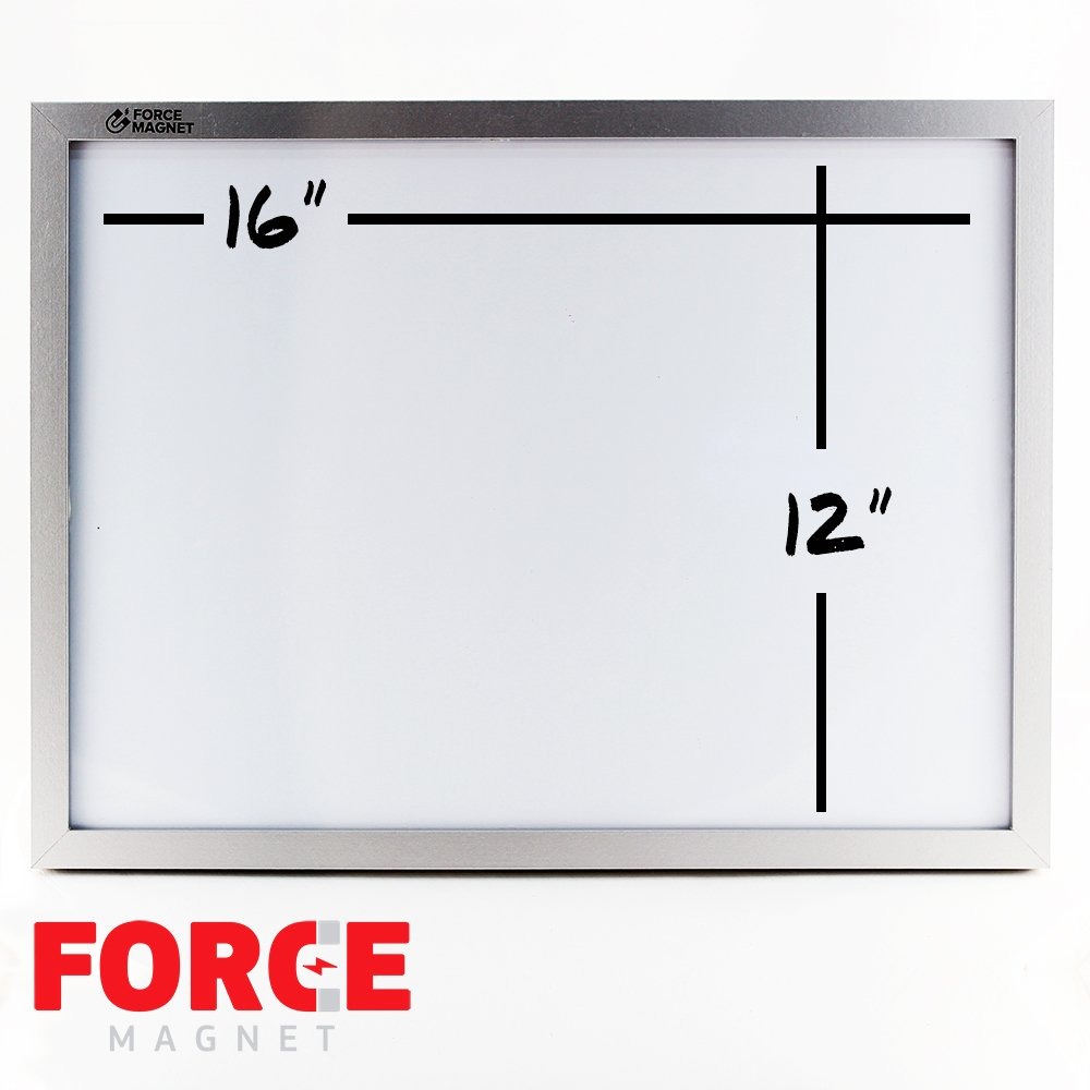 Magnetic 12 x 16'' Dry Erase Whiteboard. Includes 5 Dry Erase Markers, Assorted Colors.Magnetic Eraser Great for Fridge, Locker, and More 10 Seconds Super Easy Mounting System by FORCE MAGNET (Image #2)