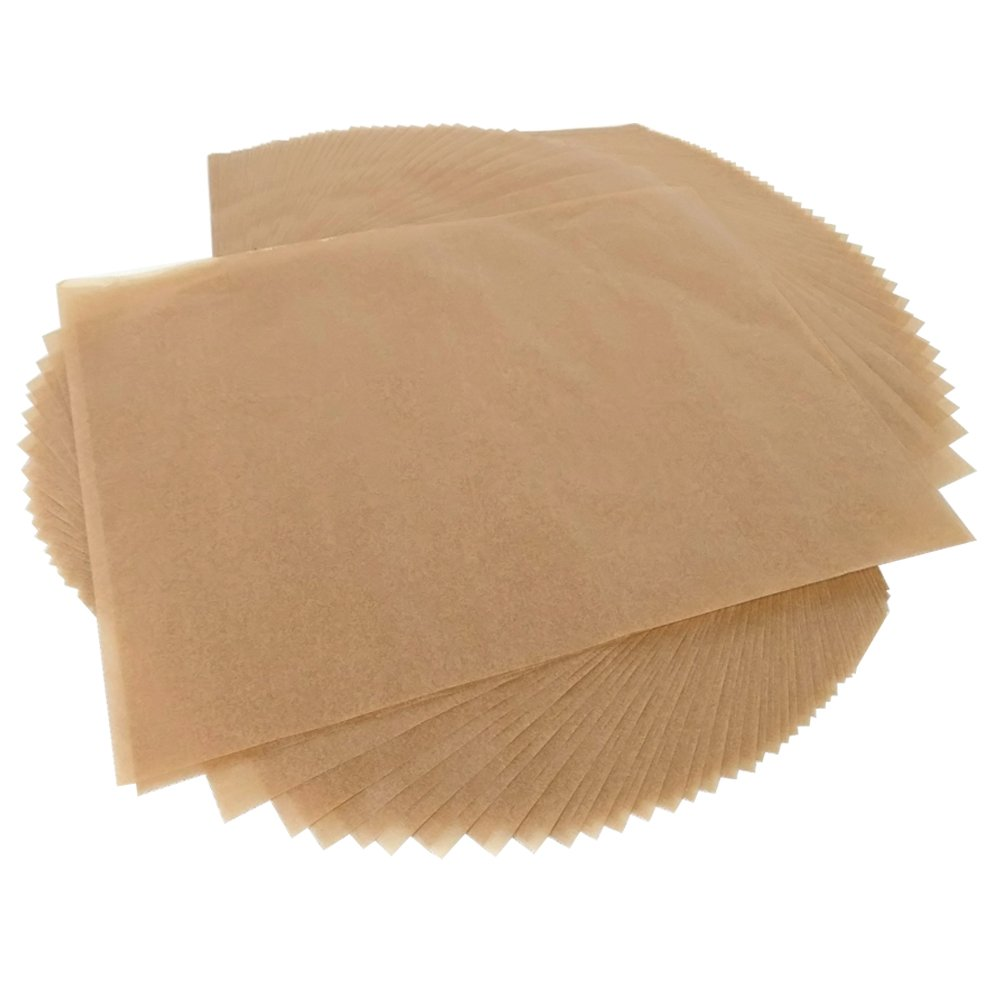 100pcs Unbleached Parchment Paper Baking Liners Sheets, Precut 12×16 inches Non-stick Wax Paper for Cook, Grill, Steam, Pans, Air Fryers, Hamburger Patty Paper by Besego (Image #3)