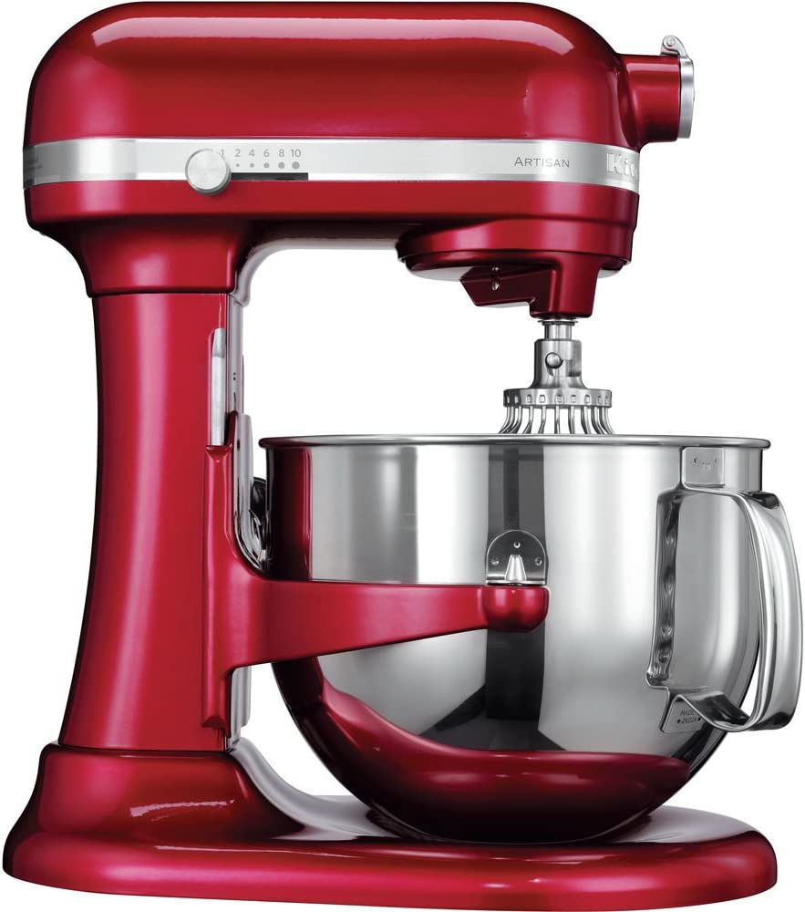 KitchenAid Artisan - Batidora amasadora, 6.9 l, color rojo