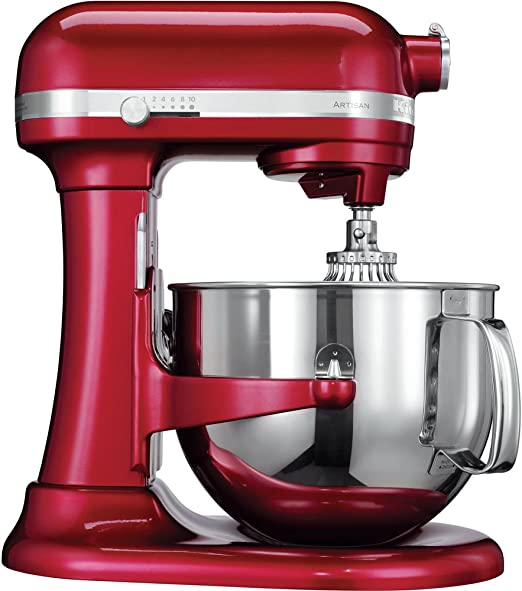 KitchenAid Artisan - Batidora amasadora, 6.9 l, color rojo: Amazon ...