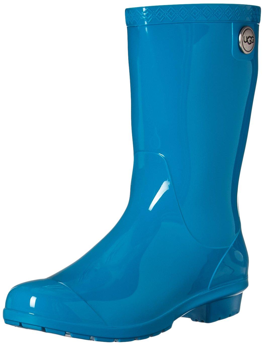 UGG Women's Sienna Rain Boot, Enamel Blue, 9 M US