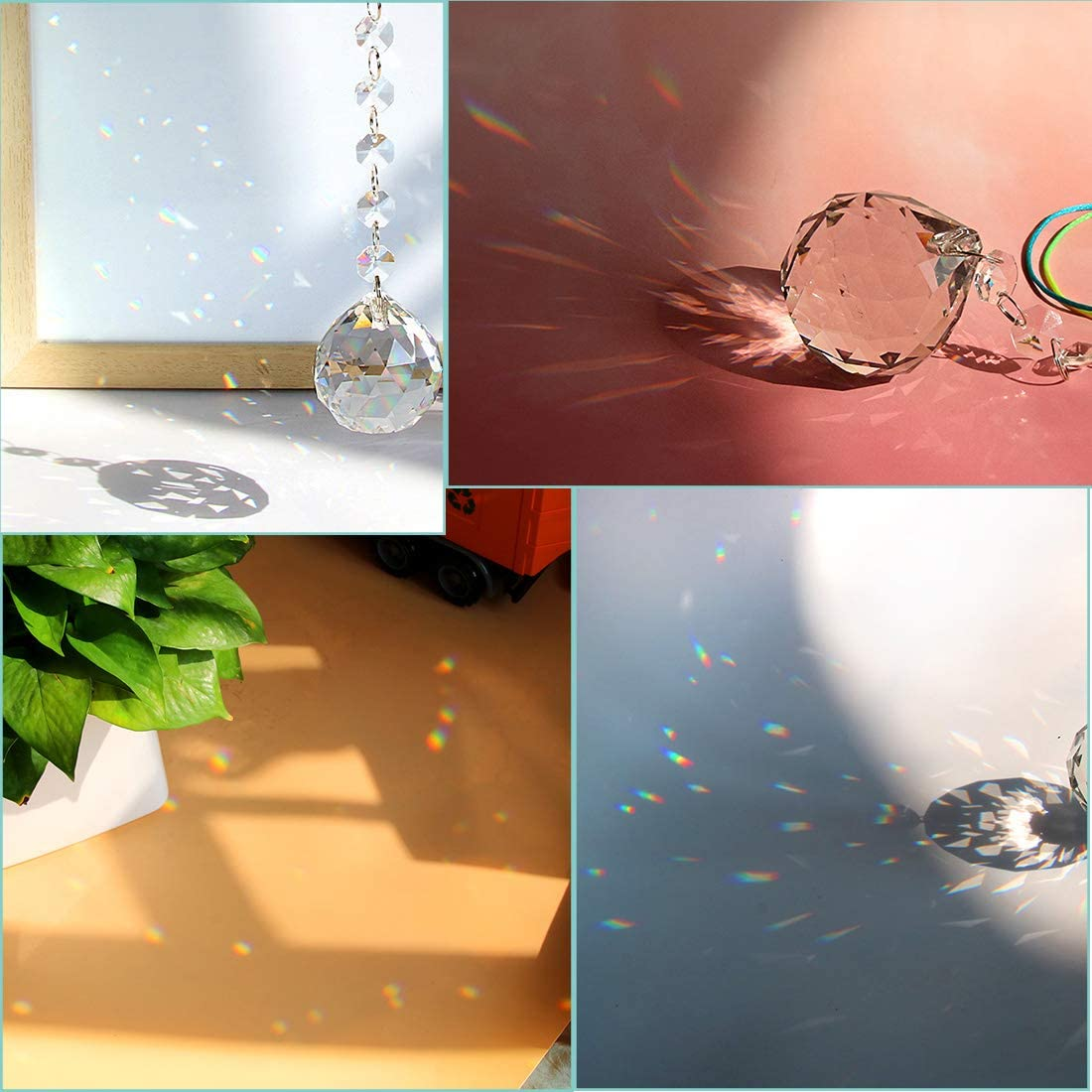Comidox 2Pcs Silicone Pendant Water Drop Gem Mold Resin Casting Pendant Tool with Hole