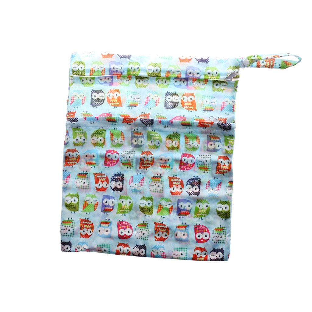 New Waterproof Zip Wet Dry Bag for Baby Infant Cloth Diaper Nappy Pouch Reusable - Tree house, Tree house Phenovo