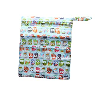 MagiDeal Washable Reusable Cloth Nappy Wet Bag Waterproof Swim Sport Travel Carry bag Diaper Bag Baby Wet Nappy Bag - Farmhouse