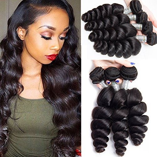 Maxine 10a Malaysian Loose Wave Virgin Hair 3 Bundles Loose Weave Curly Virgin Human Hair extensions Natural Color 18 18 18inch