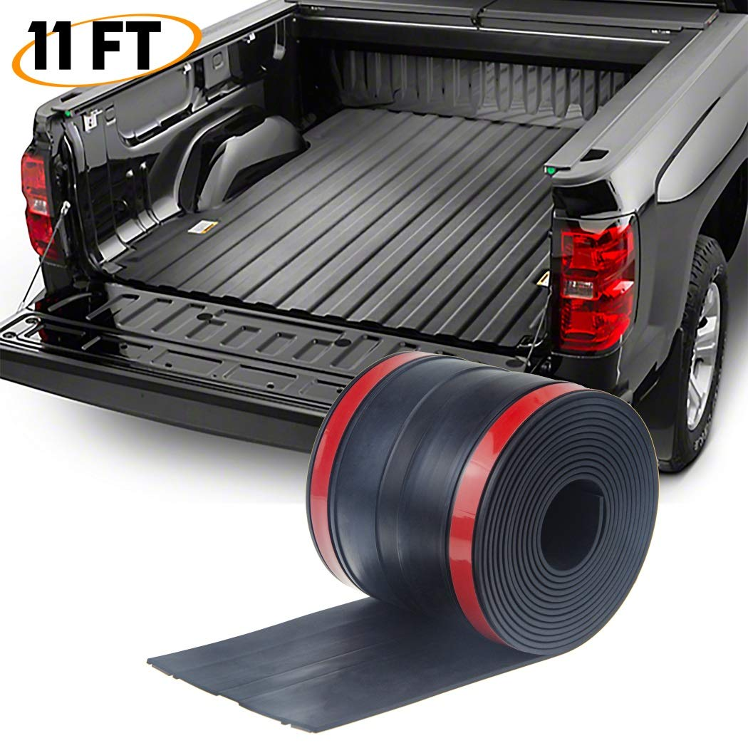 Enhanced Edition 4.25 /× 11/′ Black XISAY Adhesive Universal Rubber Truck Bed Tailgate Gap Cover Filler Seal Shield Lip Weather Stripping Cap Seal Kit XISAY US STORE