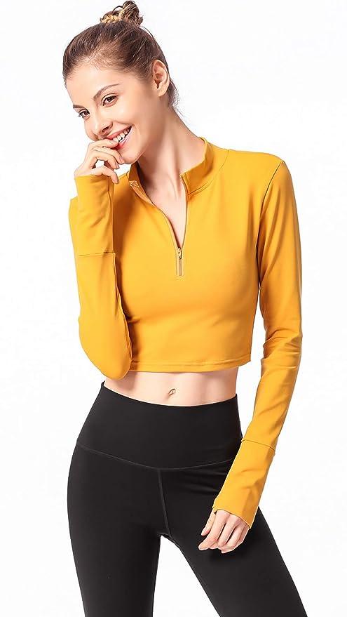 U Max Beauty Camiseta De Yoga para Mujer, Top De Manga Larga ...