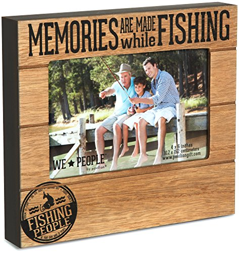 Pavilion Gift Company 67219 We People Fishing People Frame, 7-1/2 x 6-3/4