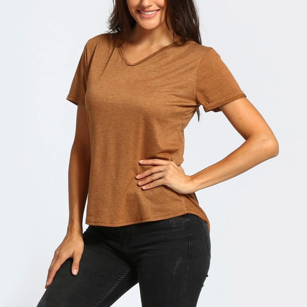 79043b9e58a DIANA S Tops Women Casual Short Sleeve Backless Blouse T Shirt at Amazon  Women s Clothing store