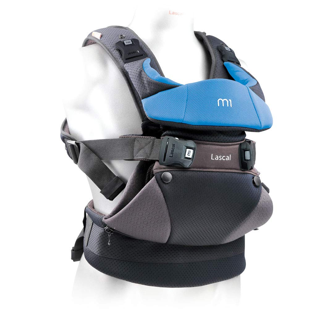 B00O27II4M Lascal m1 Carrier, 8-33 lbs, Blue, Superior Hip-Healthy M-Position Seat for Infants, Patented Hip-Zip Support for Toddlers, Multi-Position Ultra Comfortable Carrier for Parents, Babies & Toddlers 61gh3Ane-0L._SL1000_