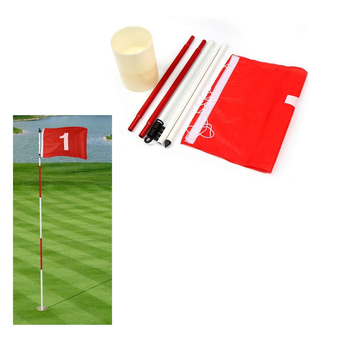MarketBoss Golf Flag Backyard Practice Golf Hole Cup flagpole 5 Section Golf Green flagpole Golf Flag and flagpole Golf Hole Golf