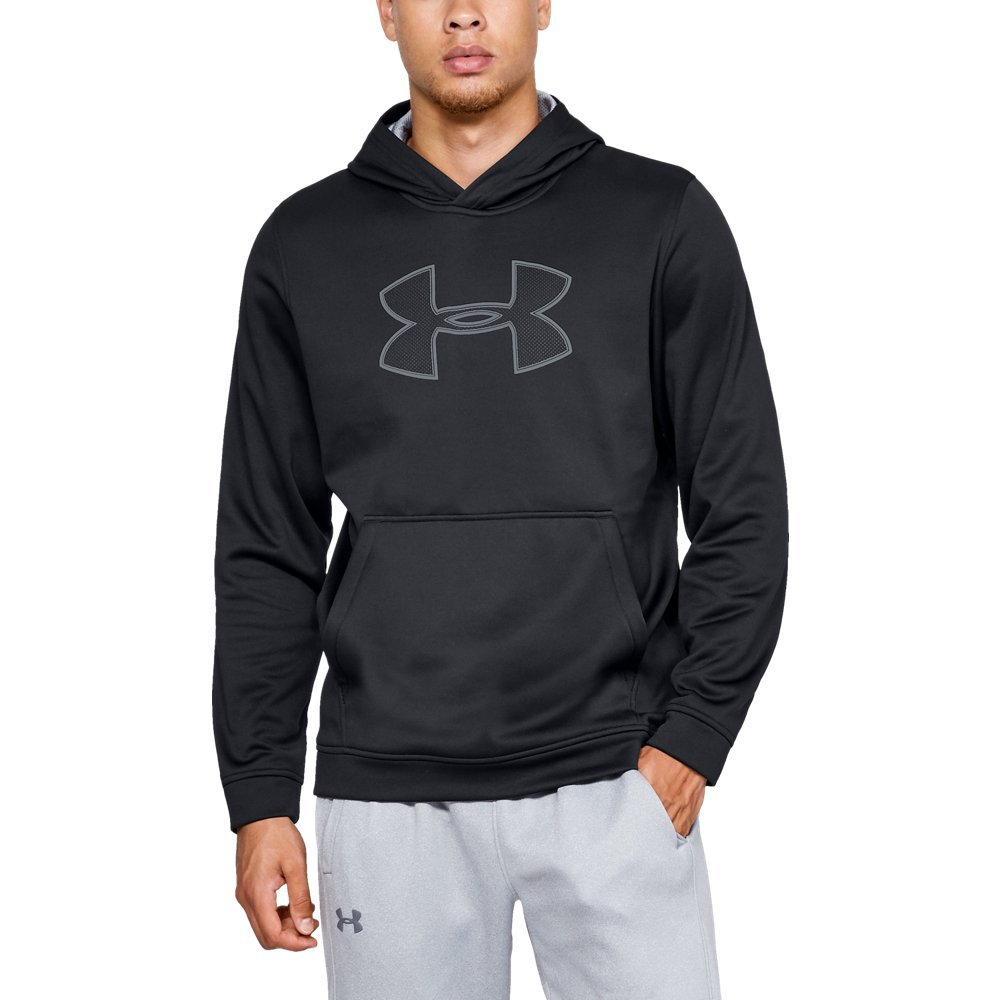 Under Armour Men's Performance Fleece Graphic Hoodie, Black (001)/Steel, XXX-Large