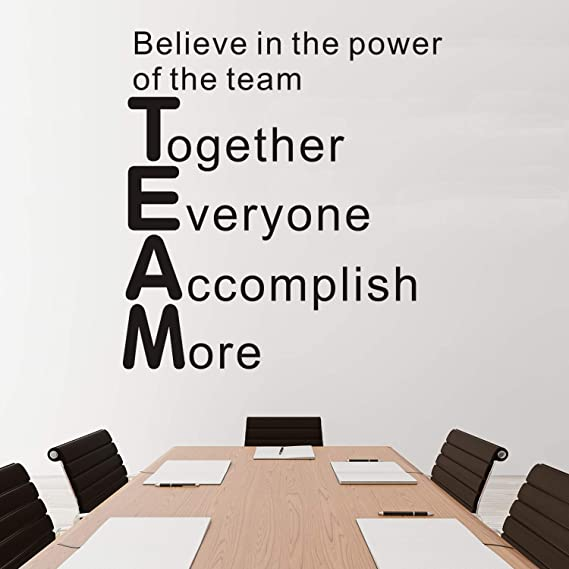 Office Wall Decal Teamwork Quote Wall Sticker Office Decor Inspire Office Quote Motivation Idea Wall Art 2393re