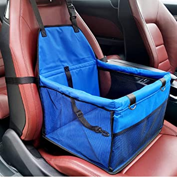 Portable Foldable Travel Carrier Bags With Clip-On Safety Leash Red AI-LAFU Pet Car Bag Thick And Comfortable Oxford Cloth Car Mat Booster For Small Dogs And Cats.