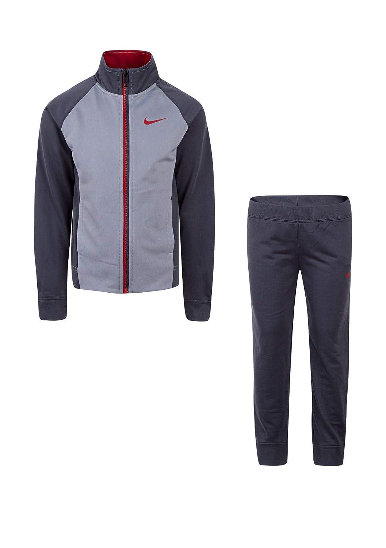 Dark gris(86e132-g1a) rouge  Nike Peu garçons 'pour Enfant Therma Dri-Fit 2 pièces SurvêteHommest (Tailles 2T – 4T)