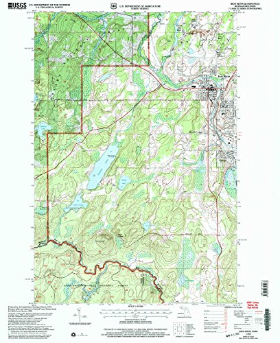 Iron River MI topo map, 1:24000 scale, 7.5 X 7.5 Minute, Historical, 1999, updated 2004, 26.9 x 22 IN - - Michigan Park Laurel