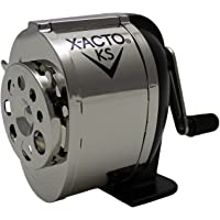 X-ACTO Ranger Wall Mount Manual Pencil Sharpener KS 4-1/4 L x 2-3/4 W x 4-3/4 H in Silver/Black