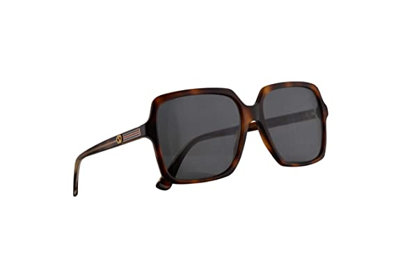 fa2e8d7d13f9 Image Unavailable. Image not available for. Color: Gucci GG0375S Sunglasses  Havana w/Blue Lens ...
