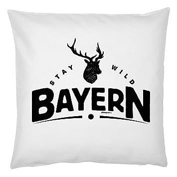 Cooles Sofakissen bayrische Sprüche Mundart Dialekt Geschenk für echte Bayern !!