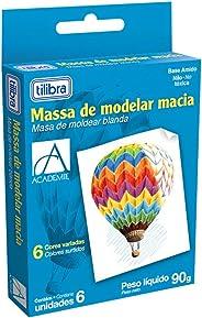 Massa para Modelar Macia, Tilibra, Académie, 288713, 6 Cores, 90g