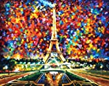PARIS OF MY DREAMS is a massive ONE-OF-A-KIND, ORIGINAL hand painted oil painting on Canvas by Leonid AFREMOV Picture
