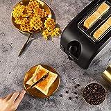 2 Slice Toaster CUSINAID Black Wide Slot Toaster 2