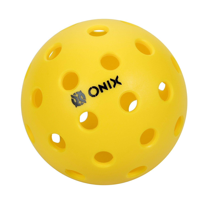 Onix Pure 2 Outdoor Pickleball Balls (Yellow, 12-Pack)