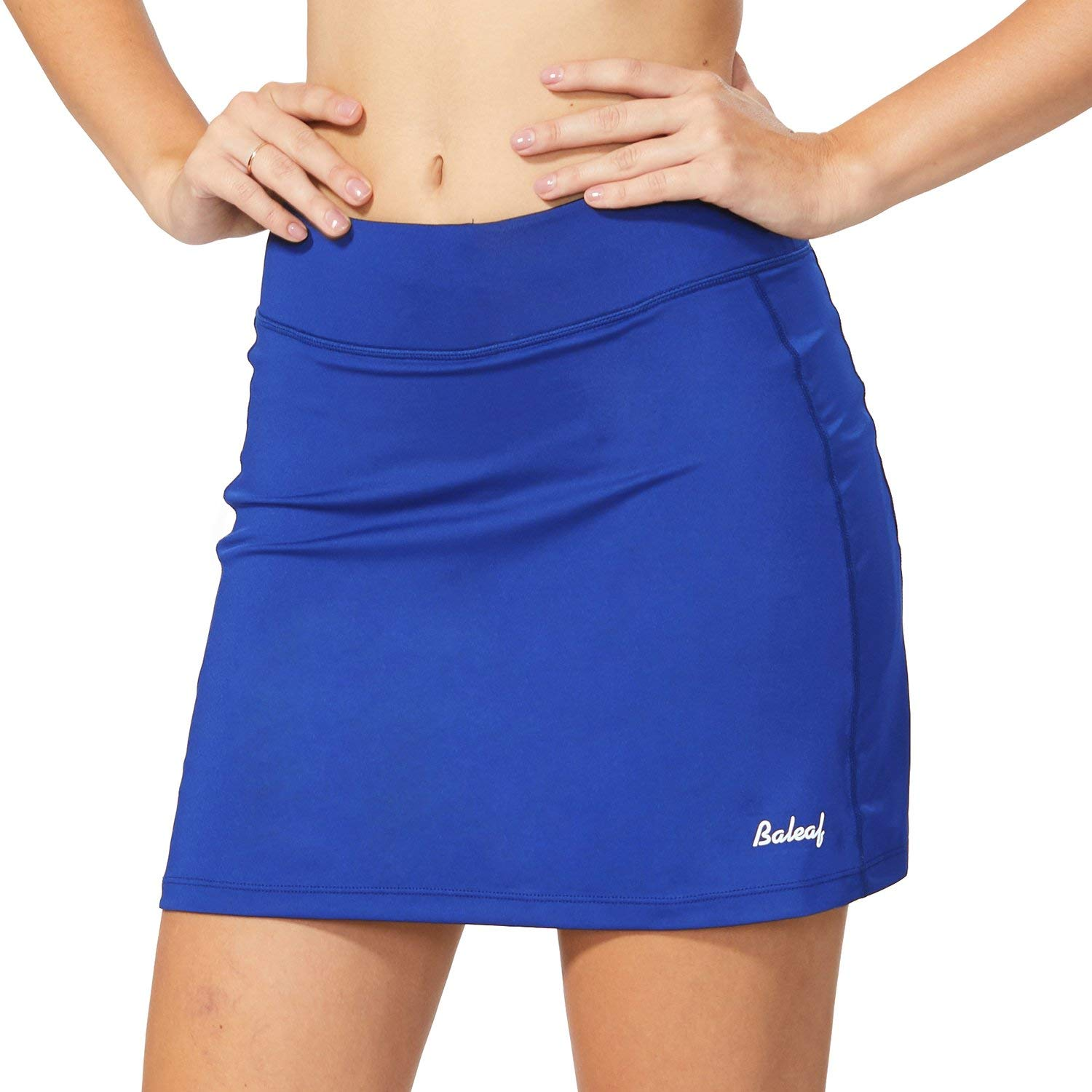 BALEAF Women's Active Athletic Skort Lightweight Skirt with Pockets for Running Tennis Golf Workout Blue Size L by BALEAF