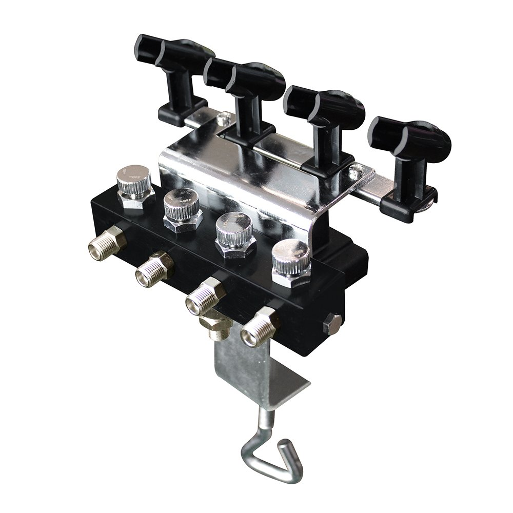 with 5pcs of air Hose OPHIR Airbrush Holder Station with 4 Splitters Airbrush Manifold That Can Hold Up to 4 Airbrushes