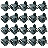 baotongle 200 pcs Plant Clips, Orchid Clips Plant Orchid Support Clips Flower and Vine Clips for Supporting Stems Vines Grow Upright Dark Green