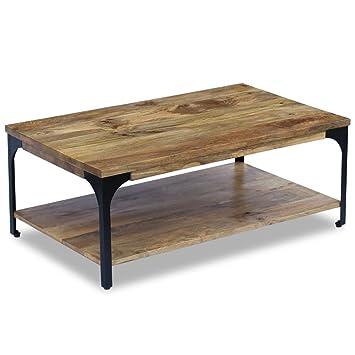 Vidaxl Table Basse Pour Salon Table Dappoint Bois De Manguier 100 X